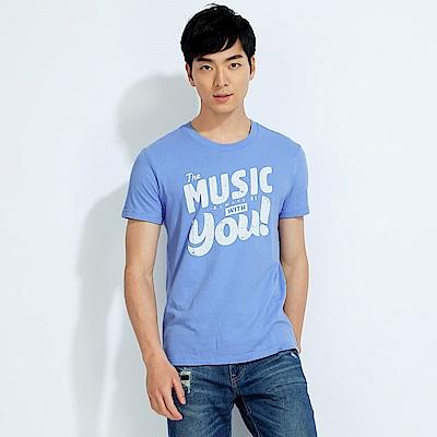 101原創 Music短袖T恤上衣-蔚藍