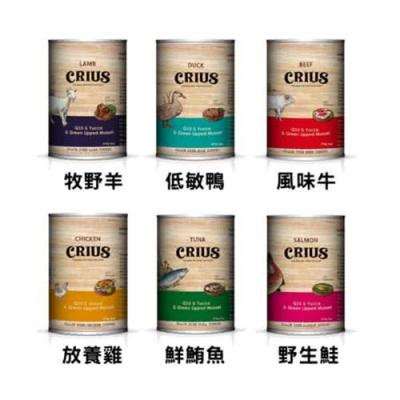 CRIUS克瑞斯-紐西蘭犬用無穀主食餐罐 375g (24罐組)