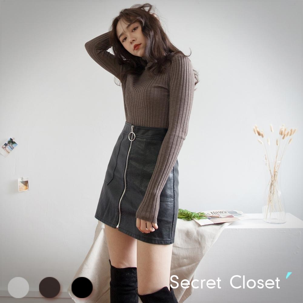 Secret Closet-秋冬高領修身打底上衣