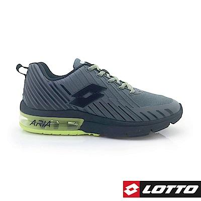 LOTTO 義大利 男 疾風KPU氣墊跑鞋 (灰/螢光黃)