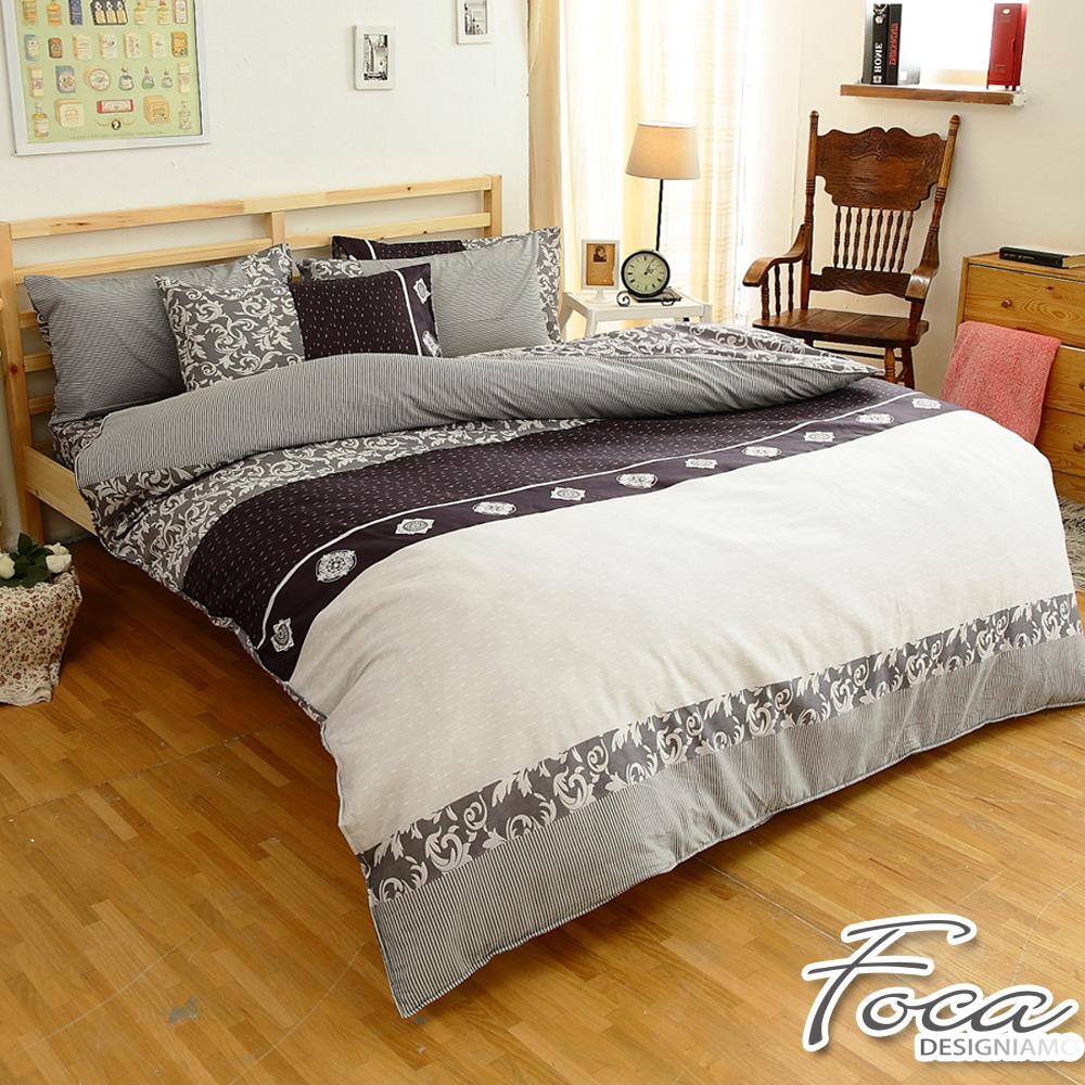 FOCA經典貴族-單人-100%精梳純棉三件式兩用被床包組