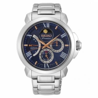 SEIKO精工Premier月相人動電能腕錶5D88-0AH0B(SRX017J1)