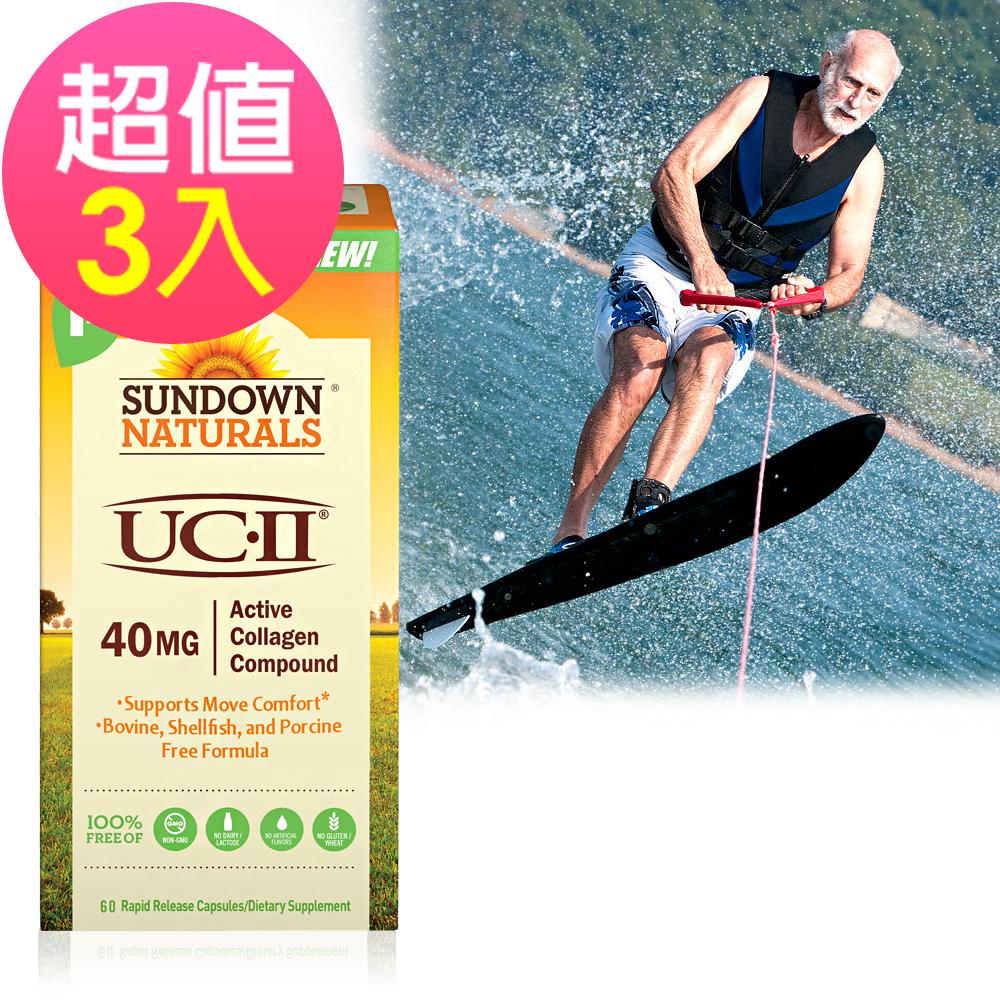 Sundown日落恩賜 勇健UCII非變性二型膠囊x3瓶(60粒/瓶)