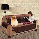 媽媽咪呀 防貓抓皮沙發保護墊/寵物防水不沾毛隔尿-米色雙人座