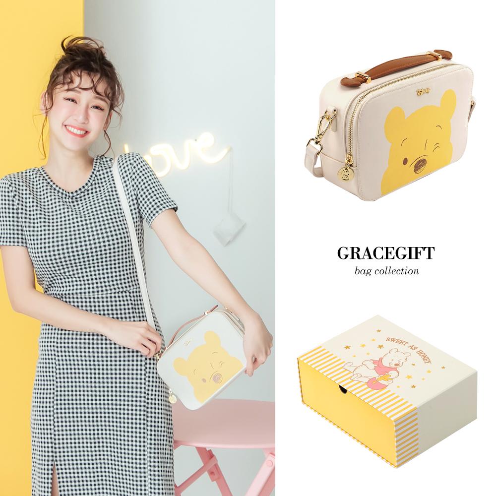 Disney collection by grace gift-小熊維尼大頭兩用方包