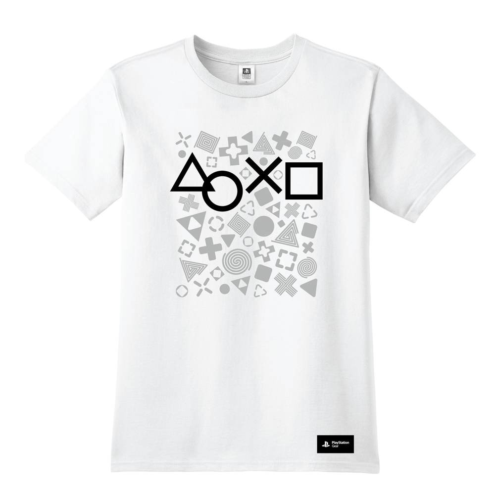 PlayStation 灰階幾何T恤