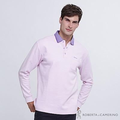 ROBERTA諾貝達 台灣製  長袖機能POLO棉衫  淡紫