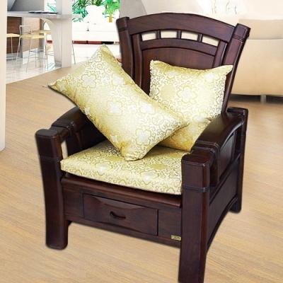 凱蕾絲帝 帝王金-實木椅專用緞面記憶聚合坐墊(54x56CM)六入