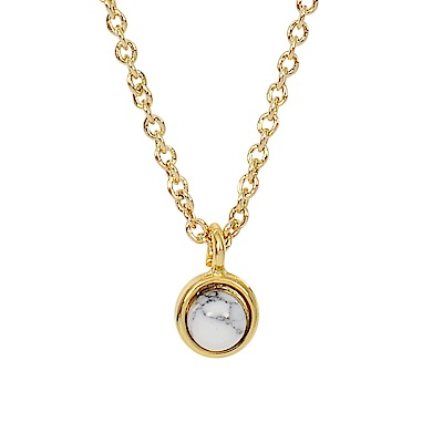 Prisme 美國時尚飾品 小巧大理石花紋圓珠金色項鍊