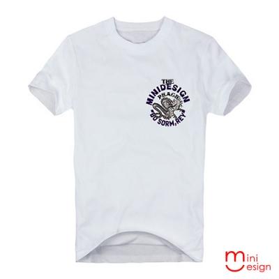 (男款)PEACE插畫龍設計短T 三色-Minidesign