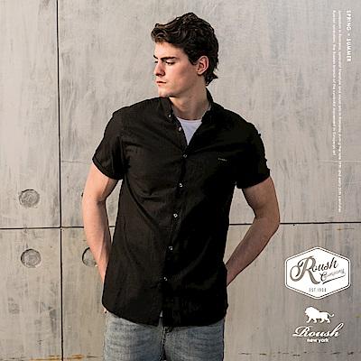Roush 基本款亞麻素面短袖襯衫(3色)