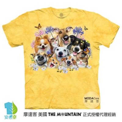 摩達客-預購-美國進口The Mountain 陽光狗狗哦耶 兒童版純棉環保藝術中性短袖T恤