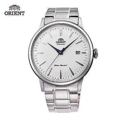 ORIENT 東方錶 DATEⅡ系列 機械錶 鋼帶款 白色 RA-AC0005S