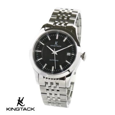 KINGTAGK 典雅品味時尚簡約機械腕錶38mm銀