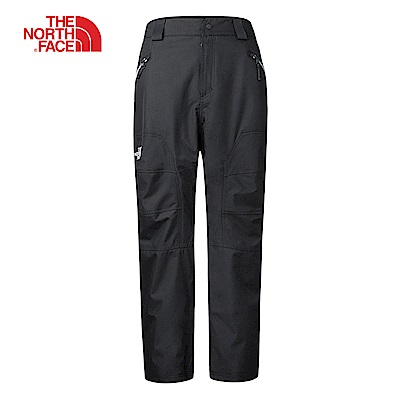 The North Face北面男款黑色防水保暖透氣滑雪褲|3LWMJK3