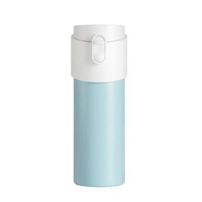 【PO:Selected】丹麥掀蓋12oz保溫泡茶杯(天空藍-白蓋)