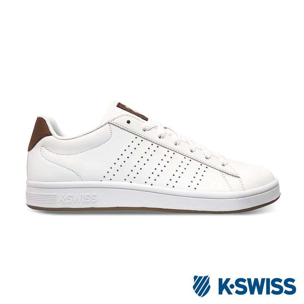 K-SWISS Court Casper S休閒運動鞋-男-白/咖啡