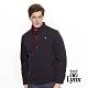 【Lynx Golf】男款防潑水防風保暖菱格紋剪接長袖外套-深藍色 product thumbnail 2