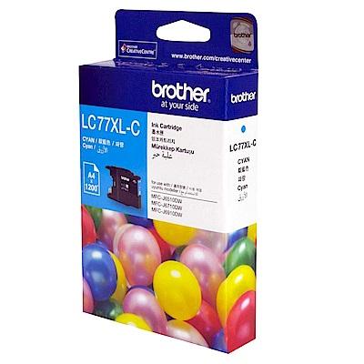 BROTHER LC77XL C 原廠超高容量藍色墨水匣