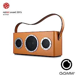 【GGMM】M4 攜帶型藍芽&Wifi皮質音響-棕色