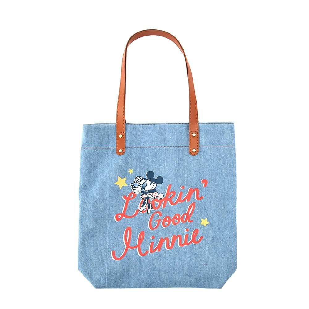 Disney collection by Grace gift米妮復古牛仔布包 牛仔