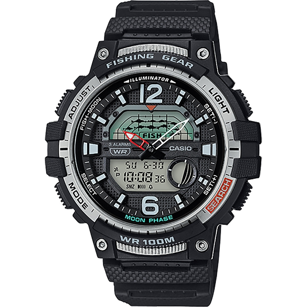 CASIO 卡西歐 釣魚專家 指針/數位手錶(WSC-1250H-1A)