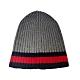 GUCCI  灰紅條紋針織毛帽(灰色) product thumbnail 1
