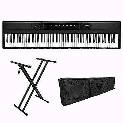 KONIX 88鍵便攜式電子鋼琴S200 電子琴全配組 含專鋼琴腳架 專用防塵琴袋
