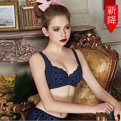 瑪登瑪朵 浪漫法式蕾絲內衣  B-G罩杯(內斂藍)