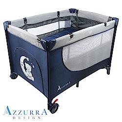 AZZURRA Travel雙層遊戲床(附蚊帳)-藍
