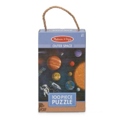 【Melissa & Doug 美國瑪莉莎】Natural Play 拼圖 - 太陽系行星 【100片】
