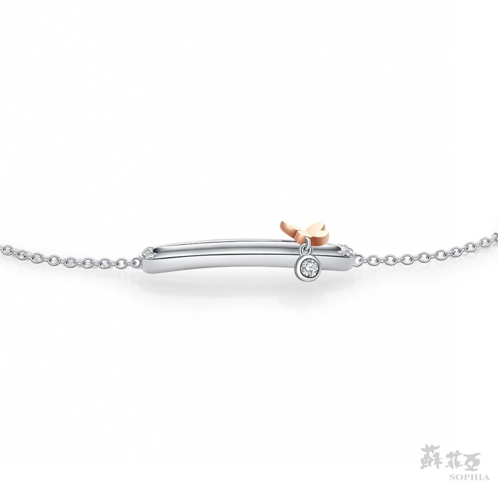 SOPHIA 蘇菲亞珠寶 - 蝶語 18K雙色(玫瑰金+白金) 鑽石手鍊