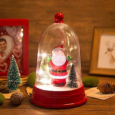 法國三寶貝 鈴鐺造型鐘罩老公景觀音樂鈴LED燈擺飾