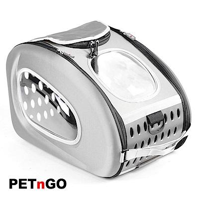 PETnGO 多功能寵物太空背包-閃亮銀