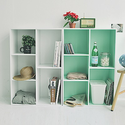 Home Feeling 五格書櫃/空櫃(6色)-60x30x90cm-DIY