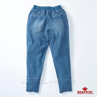 BRAPPERS 女款 Boy friend系列-全棉鬆緊帶八分褲-深藍