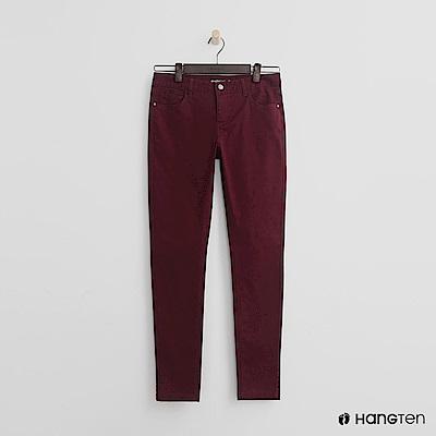 Hang Ten - 女裝 - 休閒修身長褲-紅
