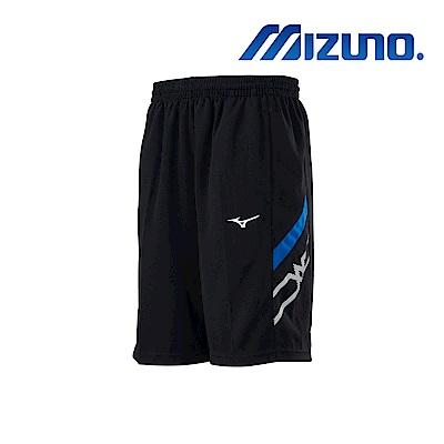 MIZUNO 美津濃 男針織短褲 黑x法國藍 32TB900292