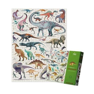 美國Crocodile Creek 動物圖鑑主題盒拼圖 - 恐龍世界