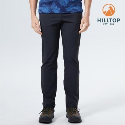 【hilltop山頂鳥】男款TORAY超潑水抗UV彈性長褲S07MD7黑