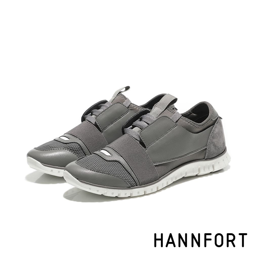 HANNFORT ZERO GRAVITY異材質拼接氣墊運動鞋-女-深岩灰