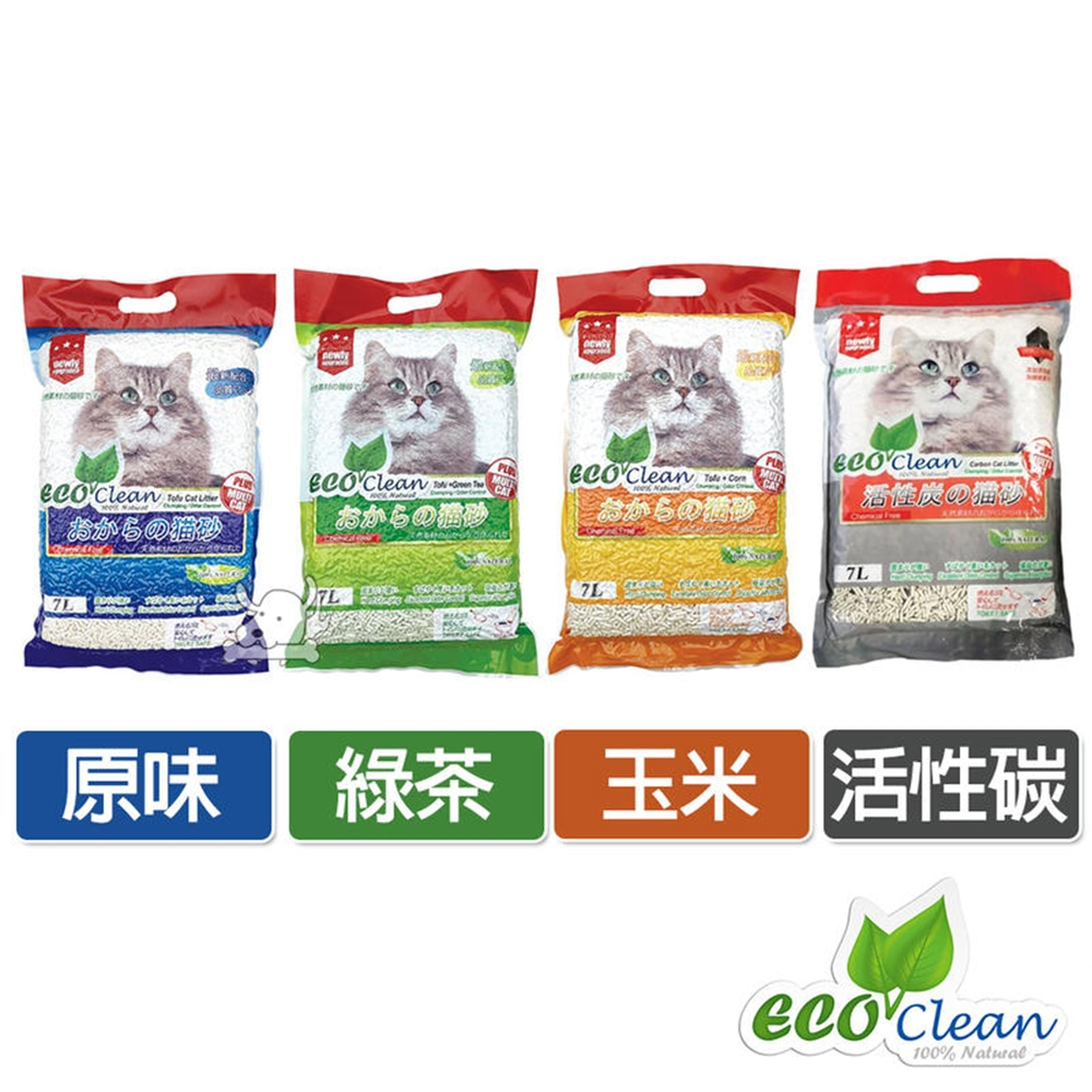 Eco Clean 艾可 天然環保 豆腐貓砂 7L 6包
