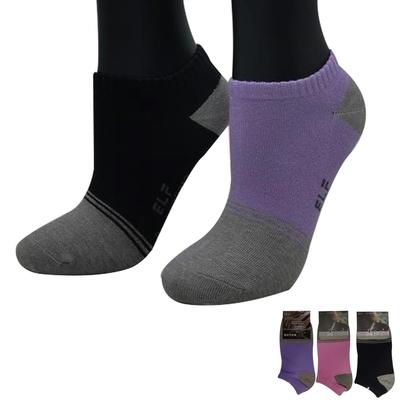 三合豐 ELF, 竹炭彩色造型除臭抗菌船襪 ~ 9雙