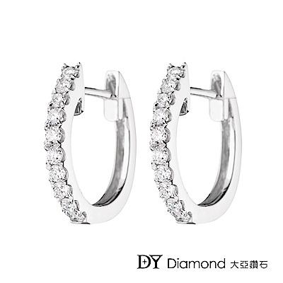 DY Diamond 大亞鑽石 18K金 經典鑽石耳環