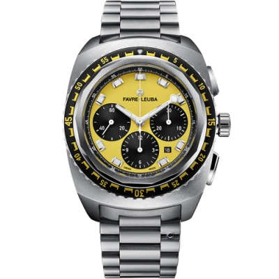 Favre-Leuba域峰表RAIDER系列SEA SKY腕錶-黃/44mm