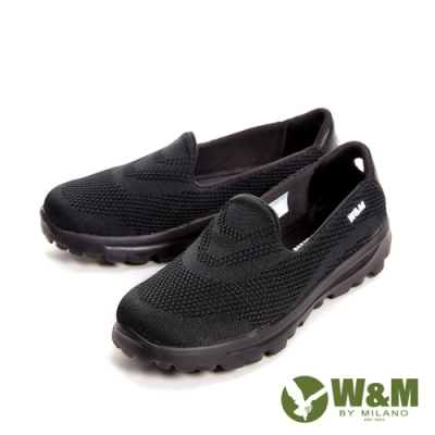 W&M BOUNCE 超彈力舒適針織增高鞋女鞋-黑