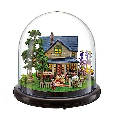 半島良品 DIY微景觀LED燈精緻小屋- 浪漫莊園