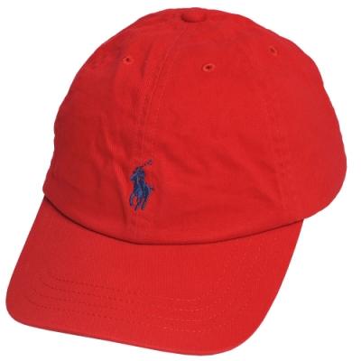 POLO RALPH LAUREN 品牌小馬刺繡LOGO棒球帽(紅)