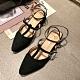 KEITH-WILL時尚鞋館 女神同款活力宣言羅馬粗跟鞋 黑