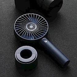 韓系美形手持充電風扇(質感藍)